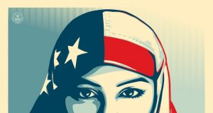 We the people, Hijab american flag Greater Than Fear