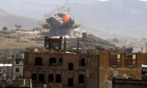 KSA UAE coalition airstrikes in Yemen