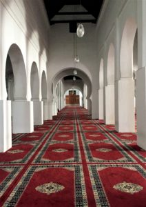 A prayer hall of Al Qarawiyyin mosque AP photo Samia Errazouki