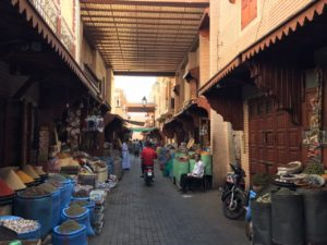Herbs and Spice merchants in the Mellah of Marrakech
