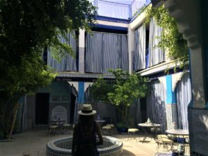 The synagogue courtyard