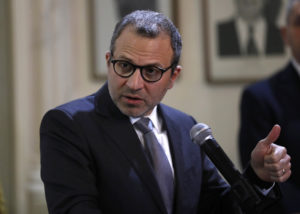 Outgoing Lebanese Foreign Minister Gebran Bassil AP Photo Hussein Malla