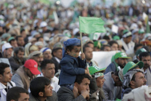 Supporter of Shiite rebels known as Houthis attend a celebration of Moulid al nabi the birth of Islams prophet Muhammad in Sanaa Yemen Saturday Nov. 9 2019. AP PhotoHani Mohammed
