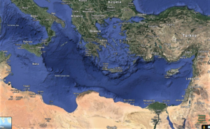 Map of the Eastern Mediterranean