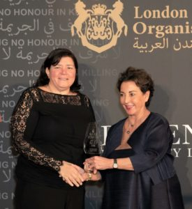 Husseini receives the Arab Women of the Year Award 2019 for Social Impact 1